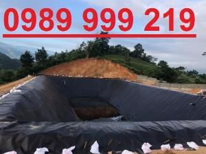 Màng hdpe phủ mái che,phủ bãi chôn lấp khổ 5m 0.75mm 250m2