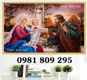 Mẫu tranh 3d gia đình thánh gia , tranh gạch công giáo
