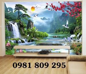 Phong cảnh , gạch tranh 3d , tranh ốp tường