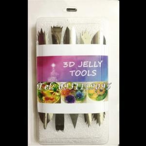 Bộ 10 dụng cụ làm rau câu 3D – Bộ Mỹ - Tặng kèm kim nhụy – Mã số 1020