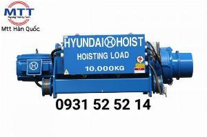 Palang cáp dầm đôi 10 tấn 12 mét Hyundai