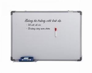 Bảng từ trắng viết bút dạ treo tường KT: 60x80cm