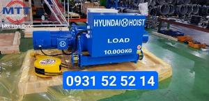Tời điện hyundai dầm đôi 10 tấn 12 mét