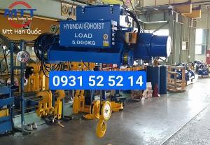 Palang Hyundai cáp dầm đôi 5 tấn 12 mét