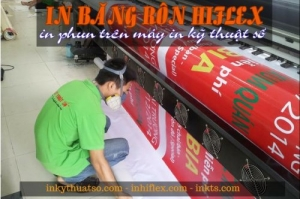 In băng rôn hiflex khai trương quán bia hơi
