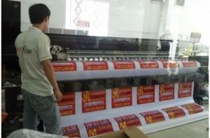 In băng rôn hiflex treo quảng cáo bất động sản Đất nền Lái Thiêu, in ấn số lượng lớn trên máy in mực dầu tạ