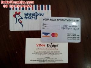In thẻ nhựa làm thẻ khách hàng tại quận Phú Nhuận