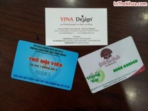 In thẻ nhựa làm thẻ hội viên cho Trung tâm thể dục thể thao