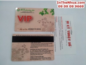 In thẻ nhựa làm thẻ VIP cho hệ thống cửa hàng