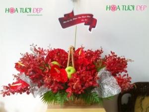 Giỏ hoa Táo Xanh GSN025