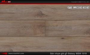 Sàn nhựa giả gỗ Vinyl Galaxy MSW 1019