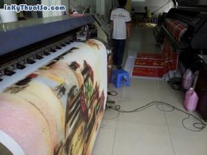 Tranh in Phố cổ Hà Nội từ in canvas mực dầu cho trang trí phòng khách từ in tranh treo tường khổ lớn