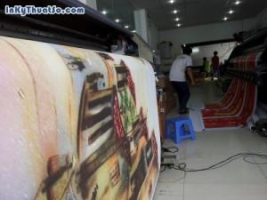 Bức tranh sơn dầu Phố cổ Hà Nội với chất liệu canvas từ in tranh treo tường khổ lớn