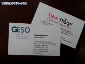 In name card dập nổi logo công ty