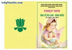 In Thiệp mời bằng giấy Couche cao cấp