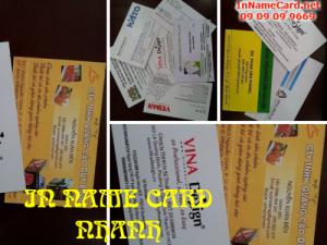 In name card nhanh bằng chất liệu giấy couche