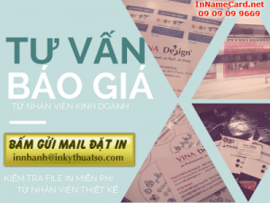 In name card bằng máy in offset