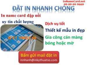 In name card dập nổi đẹp tạo uy tín cho các doanh nghiệp