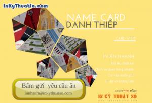 In thẻ nhựa trong suốt làm name card bằng chất liệu gì?