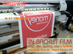 In backlit film hộp đèn quảng cáo