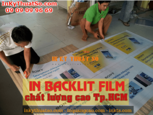 In backlit film chất lượng, uy tín