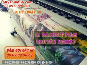 Dịch vụ In backlit film chất lượng cao nhanh chóng