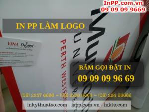 In logo trên chất liệu PP giá rẻ