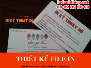 Thiết kế file in danh thiếp