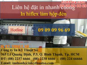 In hiflex làm hộp đèn quảng cáo ngoài trời giá rẻ cho các dịch vụ kinh doanh
