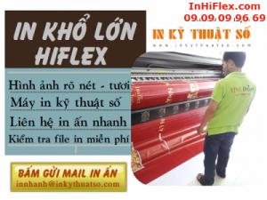 In khổ lớn giá rẻ từ bạt hiflex cho hộp đèn quảng cáo tại các cửa hàng