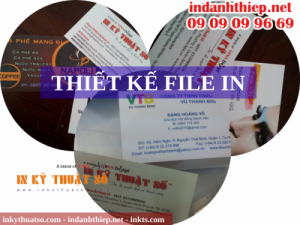 Nhận thiết kế file in danh thiếp