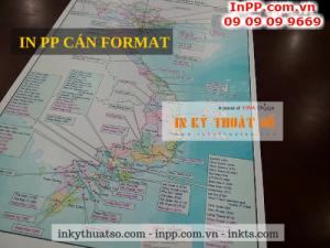 In PP cán format làm bản đồ phục vụ công tác giảng dạy