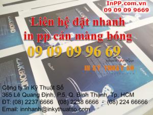 In pp cán màng bóng làm poster quảng cáo các dịch vụ ăn uống tại Tp. HCM