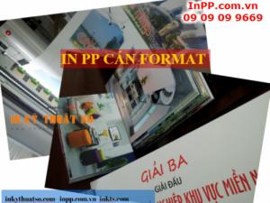 Quy trình thực hiện in PP cán format