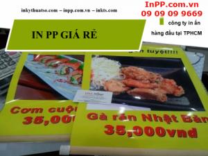 Tại sao chọn in PP giá rẻ đóng mành sáo cho thực đơn