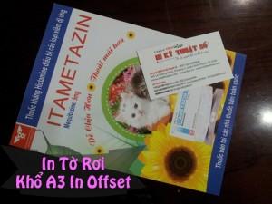 In tờ rơi khổ A3 in offset tại Cty TNHH In Kỹ Thuật Số - Digital Printing tùy chọn in một màu, in nhiều màu