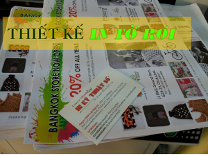 Thiết kế tờ rơi đẹp đáp ứng được yêu cầu về thẩm mỹ và chuyển tải thông tin tại Công ty TNHH In Kỹ Thuật Số - Digital Printing