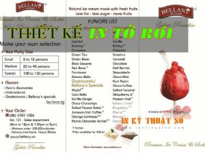 Nhận thiết kế in tờ rơi kết hợp menu cho quán trà sữa