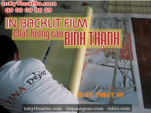 In backlit film chất lượng cao Bình Thạnh