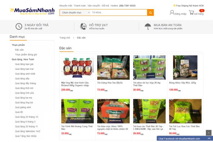 Đặc sản nhập khẩu, đặc sản Đà Lạt được Mua Sắm Nhanh phân phối từ nguồn hàng Đặc Sản Ngon