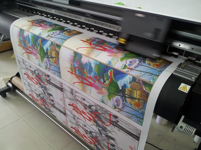 In vải silk làm tranh thư pháp, tranh chữ