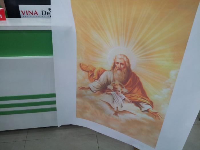 In trên vải silk - in tranh lên vải dòng tranh tôn giáo, tranh thờ