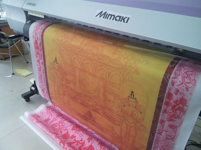 Tranh Phật đẹp - in silk khổ lớn