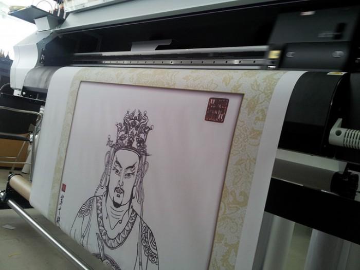 Tranh ảnh Phật giáo đẹp - in silk giá rẻ