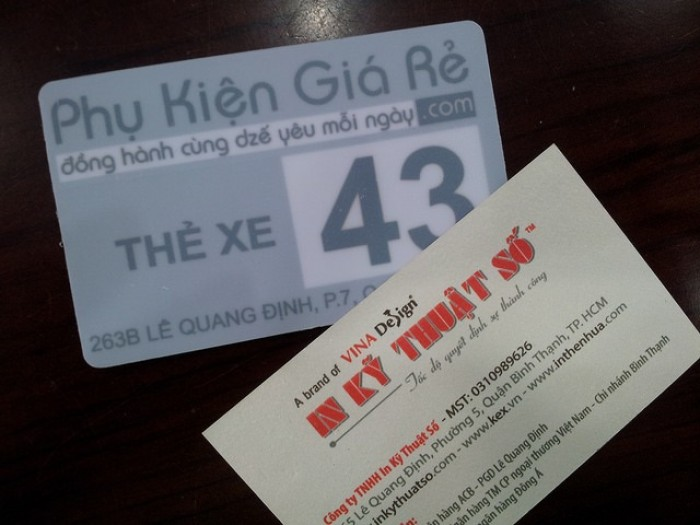 In thẻ giữ xe