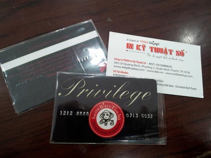 In thẻ nhựa thành viên, membership card