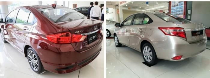 So sánh Toyota Vios và Honda City về kiểu dáng, kích thước