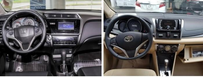 So sánh Toyota Vios và Honda City về trang bị nội thất