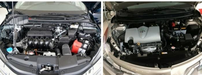 So sánh Toyota Vios và Honda City về động cơ, vận hành