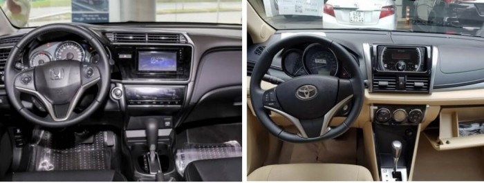 So sánh Toyota Vios và Hyundai Elantra về nội thất